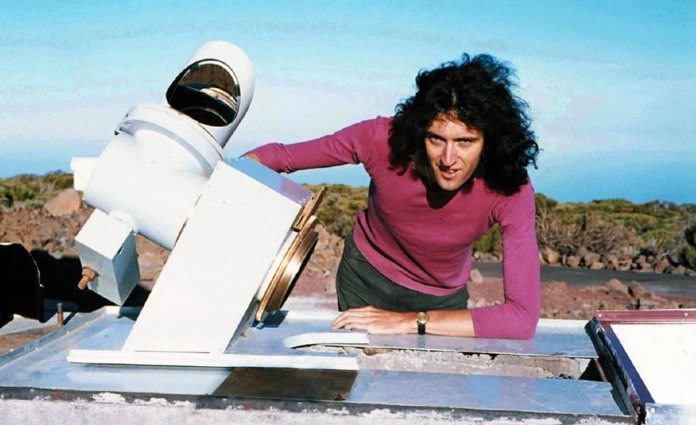 Brian May en Tenerife en 1971.