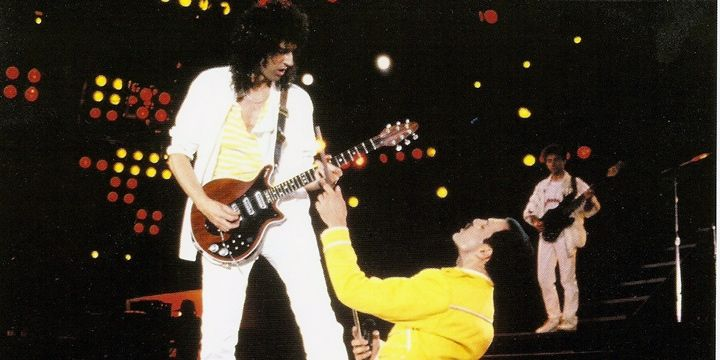 Brian May y Freddie Mercury. Wembley, 1986.