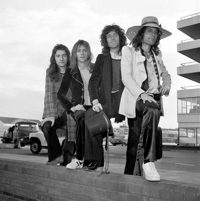 The band in Australia, 1974.