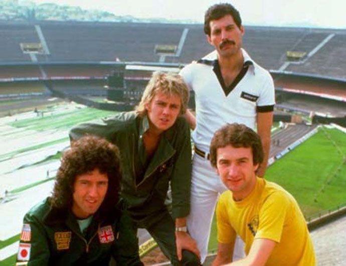 Queen en el Estadio Morumbi de Sao Paulo, Brasil.