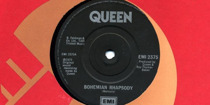 Single de Bohemain Rhapsody. Roger Taylor.