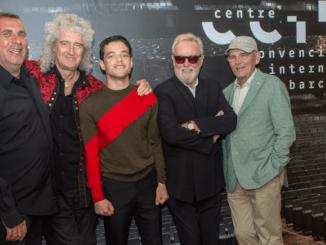 Graham King, Brian May, Rami Malek, Roger Taylor y Jim Beach. CineEurope, Barcelona.