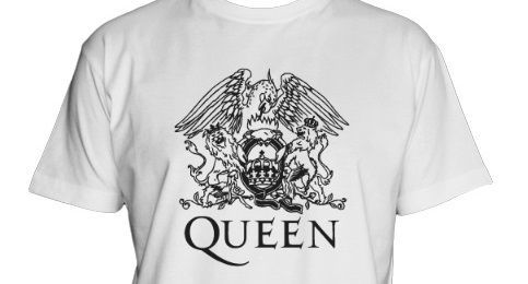 00ca86ee04f1b Camiseta Queen blanca con logo negro