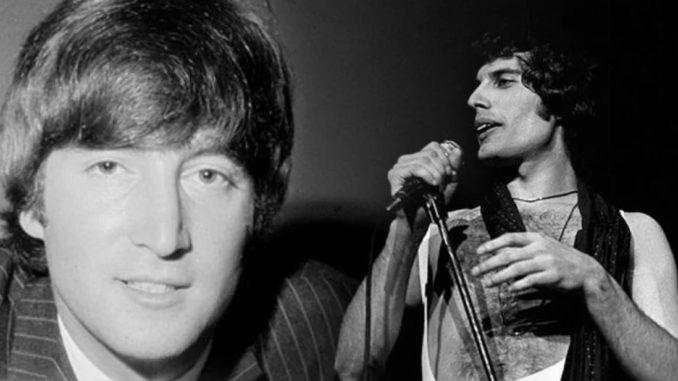 John Lennon y Freddie Mercur
