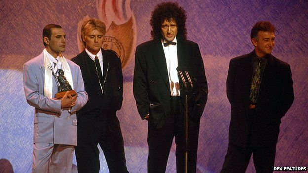 Queen en 1990.