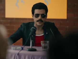 Rami Malek as Freddie Mercury in Bohemian Rhapsody