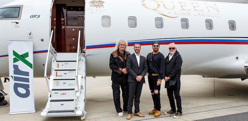 Bernhard Wallner de AirX con Queen y Adam Lambert