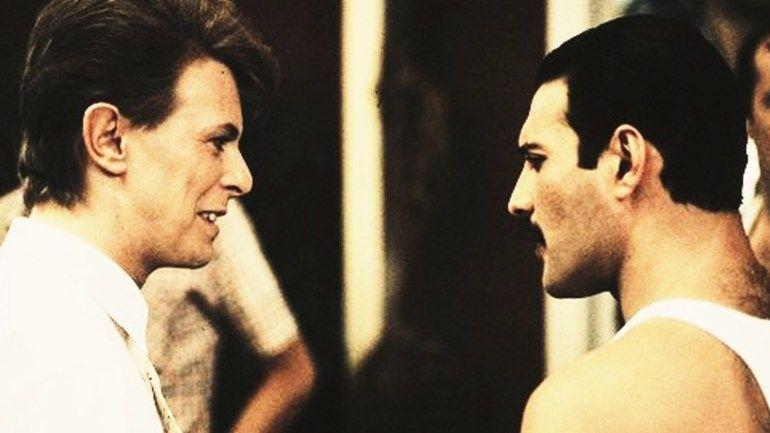 David Bowie y Freddie Mercury