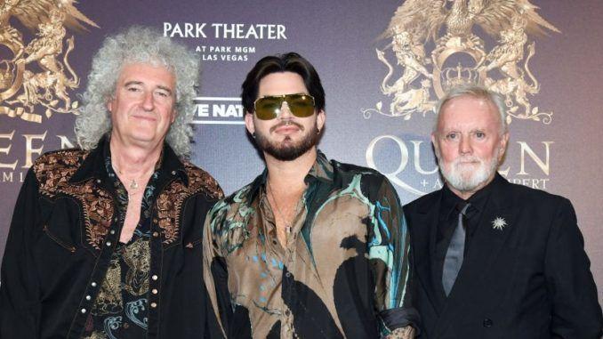 Brian May, Adam Lambert y Roger Taylor.