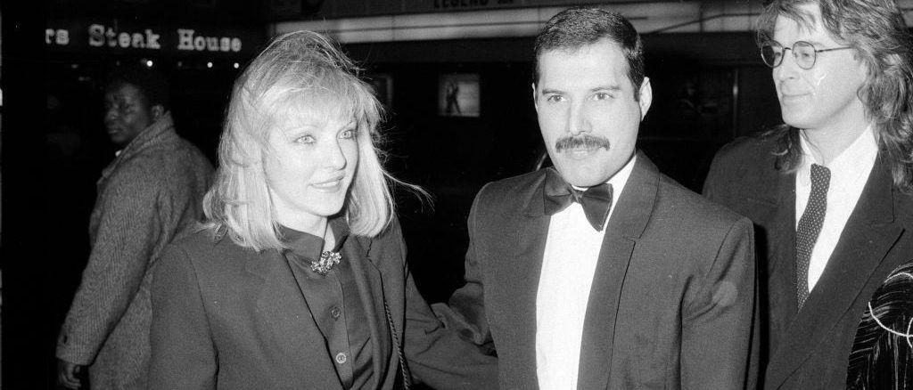 Freddie Mercury and Mary Austin in London, 1986