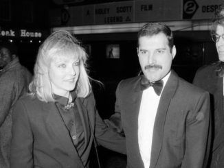 Freddie Mercury and Mary Austin in London, 1986