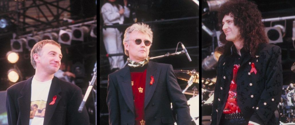 freddie mercury tribute concert john deacon brian may roger taylor wembley 1992