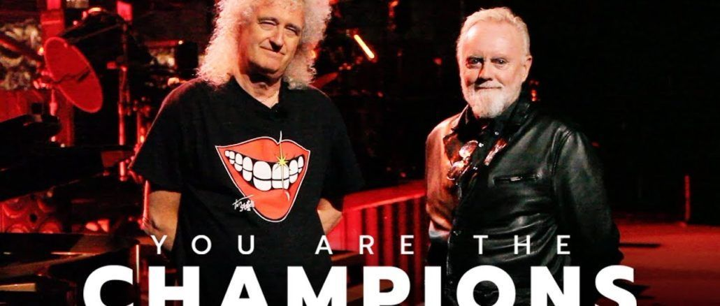 Brian May Roger Taylor Queen You Are The Champions