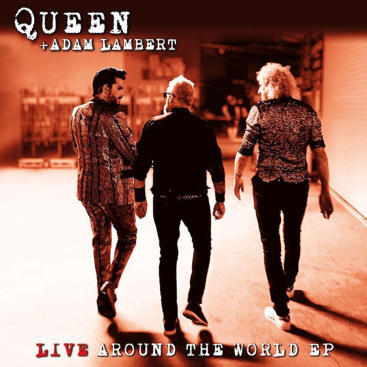 Queen + Adam Lambert - Live Around The World EP - Cover Art
