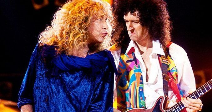 Robert Plant y Brian May de Queen