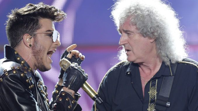 Adam Lambert y Brian May (Queen)