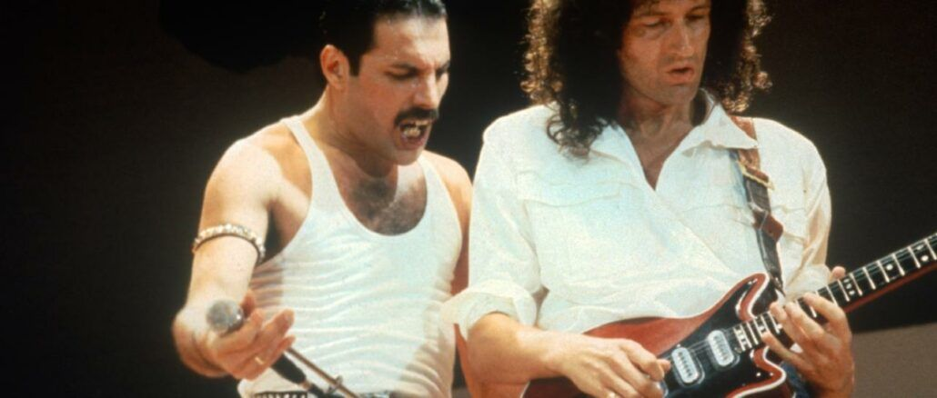 freddie mercury brian may queen live aid 1985 aqueenofmagic