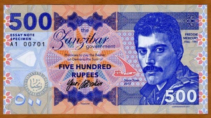 Billete Freddie Mercury 2017