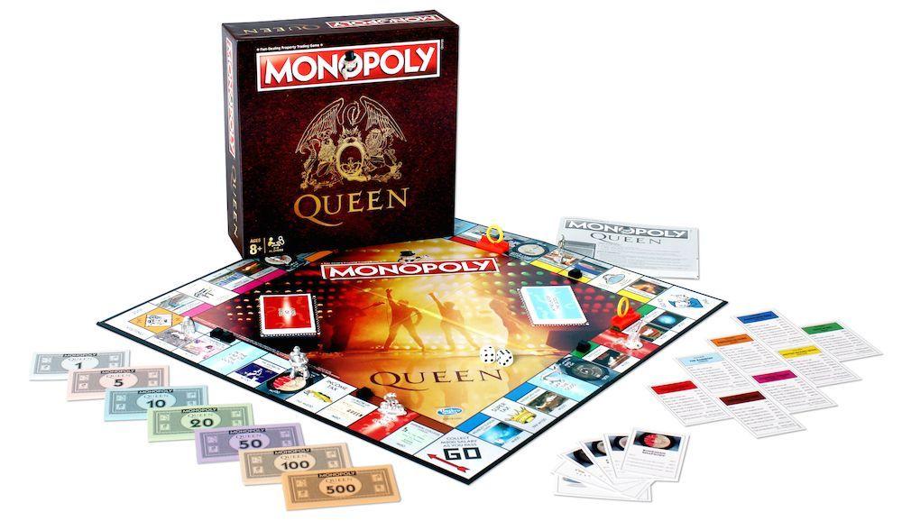 Set completo del Monopoly de Queen.