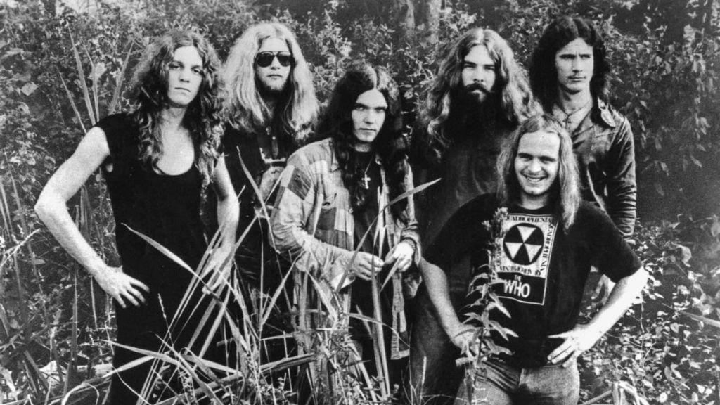 Lynyrd Skynyrd, cuando coincidieron con Queen en 1974.