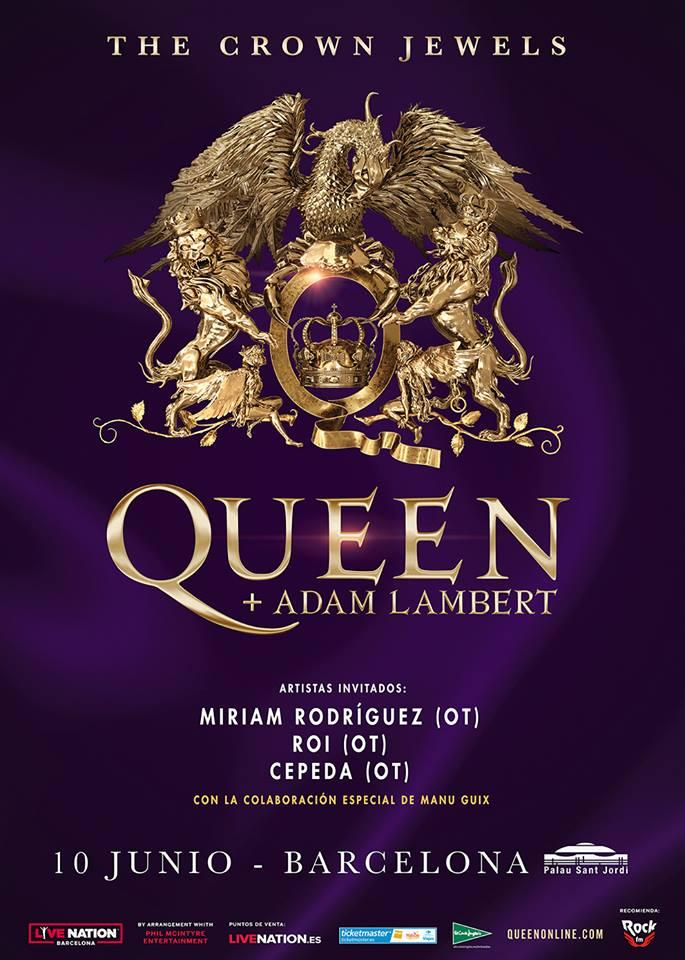 Operación Triunfo como teloneros de Queen + Adam Lambert en Barcelona
