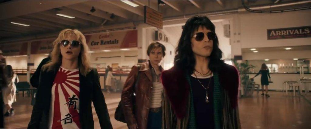 Imagen del primer teaser de Bohemian Rhapsody, donde se aprecia la polémica camiseta de Roger Taylor.
