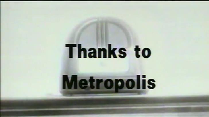 """""""Thanks to Metropolis"""". Radio Ga Ga."""