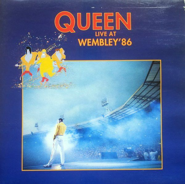 Portada original del álbum Live At Wembley '86, lanzado en 1992.