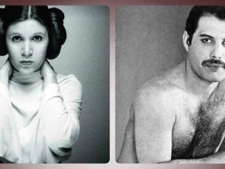 Carrie Fisher y Freddie Mercury