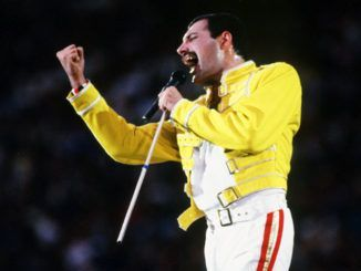 Freddie Mercury en Wembley, 1986.
