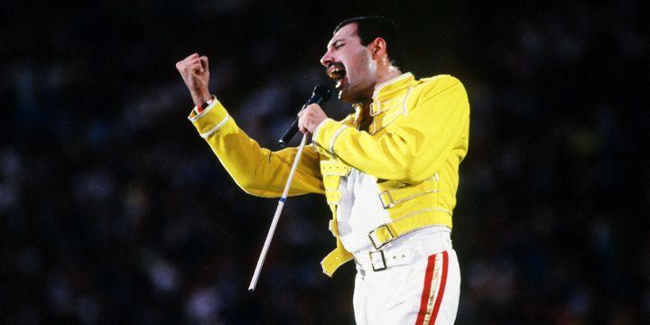 Freddie Mercury en Wembley, 1986.