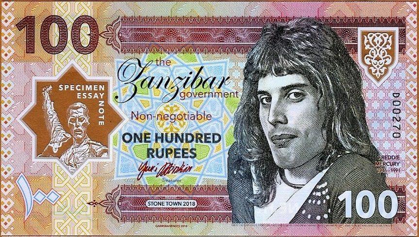 Billete conmemorativo de Freddie Mercury Edición 2018