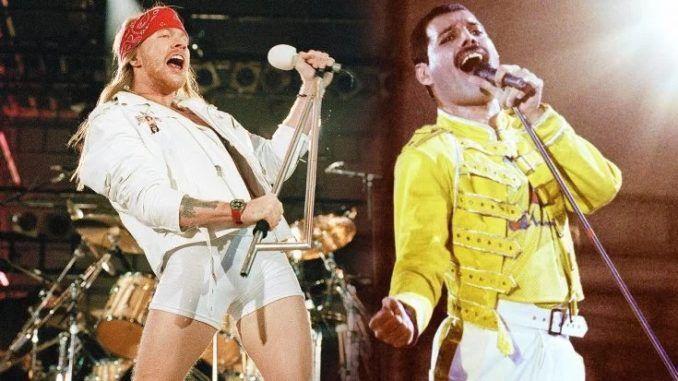 Axl Rose Freddie Mercury Guns N' Roses Queen