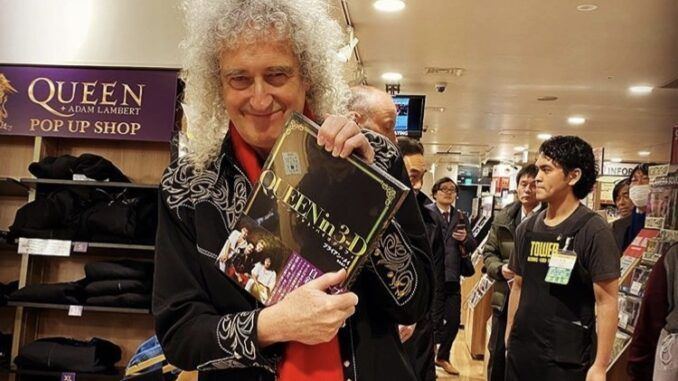 brian may queen in 3-d 3d japon japan