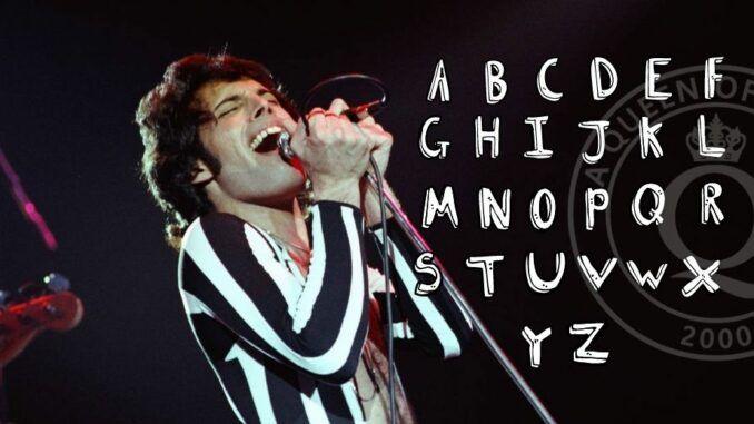 Queen Freddie Mercury Sopa de letras